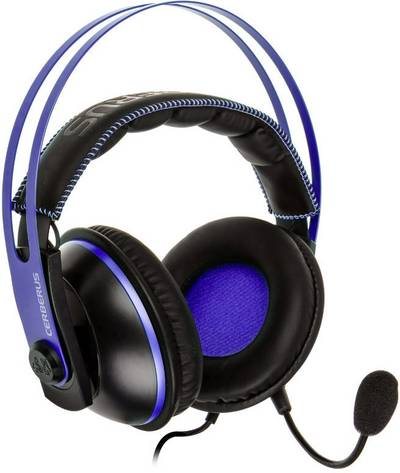 Image of Asus Cerberus V2 Stereo Gaming headset 3.5 mm jack Corded Over-the-ear Black, Blue
