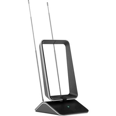One For All SV 9465 DVB-T/T2 active telescopic antenna Indoors Black