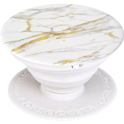 POPSOCKETS 96704-Calacatta Mobile phone stand White, Gold