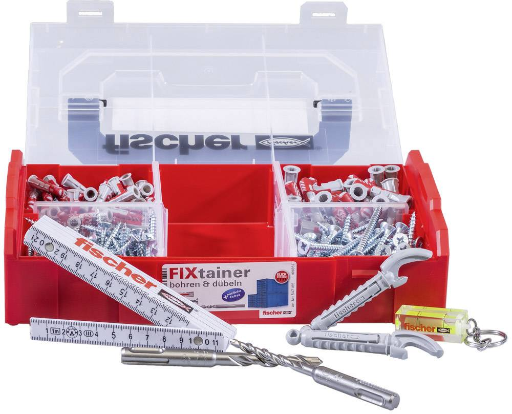 Duopower//Duotec Assortment Dowel /Ø 6 mm and 8 mm 200 Pieces in The Suitcase FISCHER Fixtainer