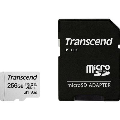 Image of Transcend Premium 300S microSDXC card 256 GB Class 10, UHS-I, UHS-Class 3, v30 Video Speed Class, A1 Application Performance Class incl. SD adapter