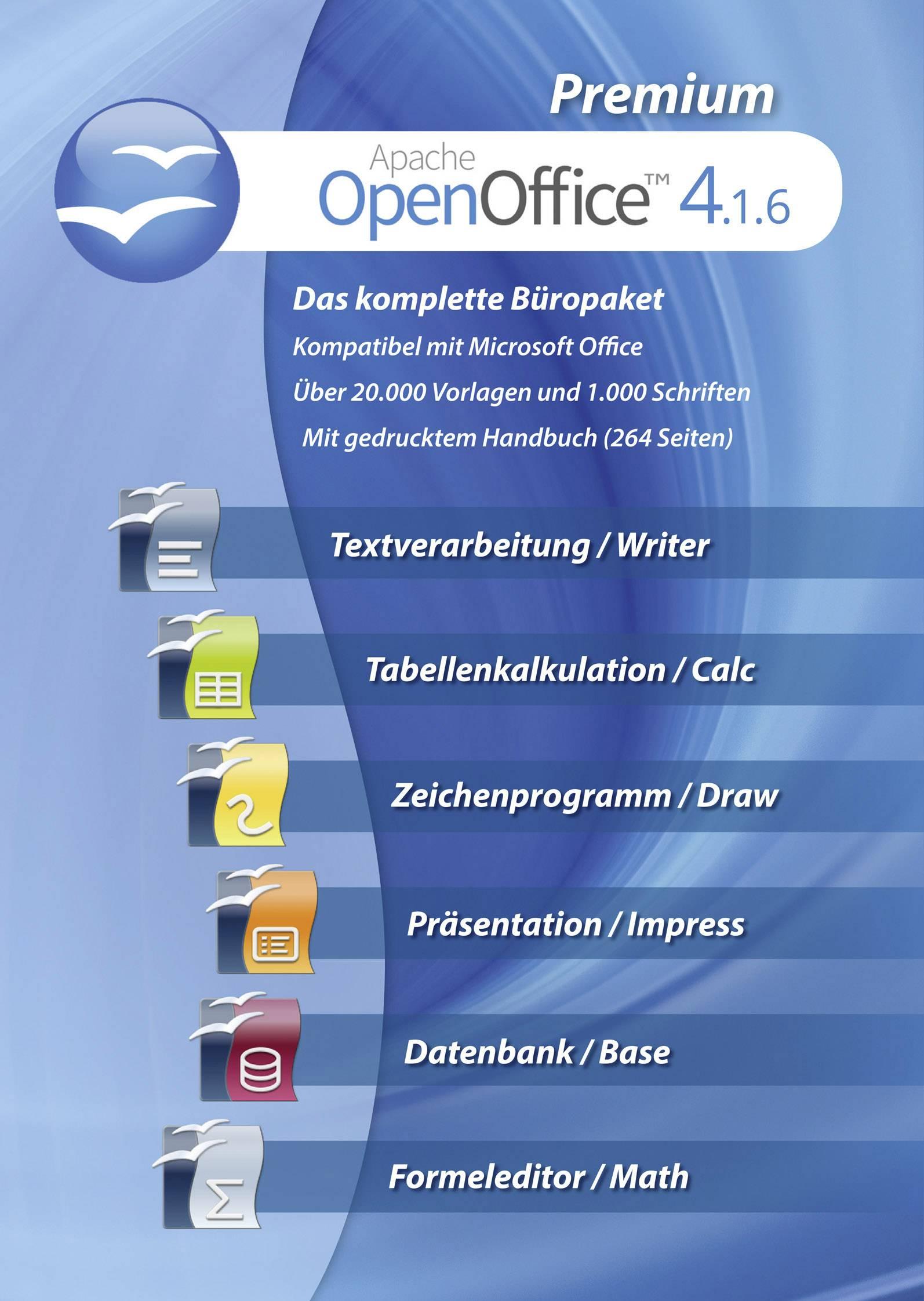 Openoffice 4 1 6 Premium Windows Office Package Conrad Com