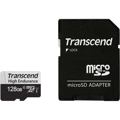 Image of Transcend High Endurance 350V microSDXC card Class 10, UHS-I incl. SD adapter