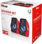 Trust Gemi RGB 2.0 PC loudspeaker, red