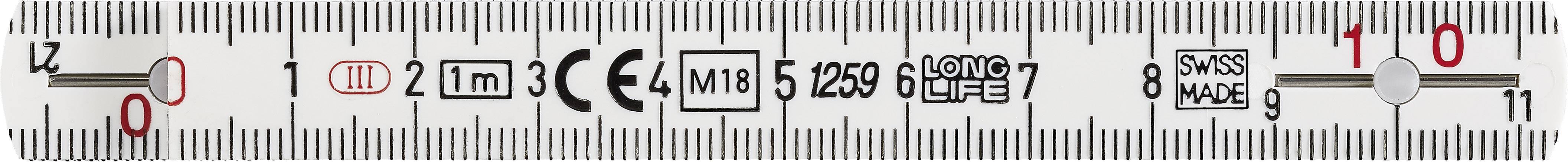 BMI 935990100W Rule 1 m Plastic   Conrad com
