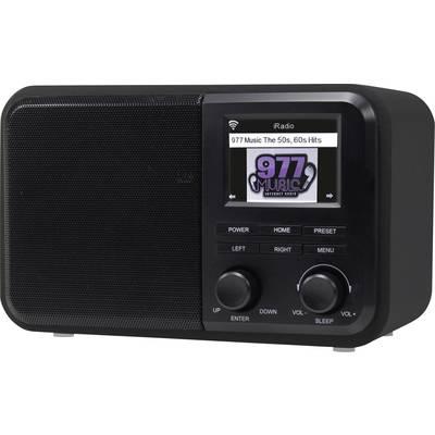 Denver IR-130 Internet desk radio Internet DLNA, Wi-Fi, Internet radio DLNA-compatible Black