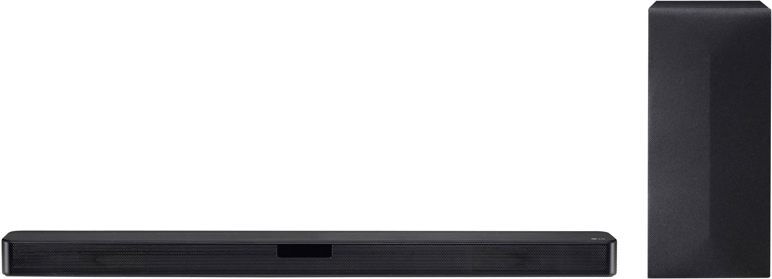 LG Electronics SL4 Soundbar Black Bluetooth, incl  cordless