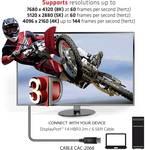 Club 3D DisplayPort 1.4 HBR3 8K60Hz cable plug/plug 2 meters