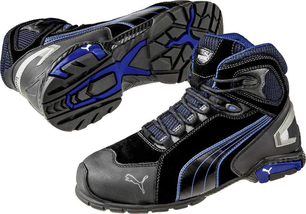 PUMA Safety Rio Black Mid 632250-43 Safety work boots S3 Size: 43 Black, Blue 1 Pair