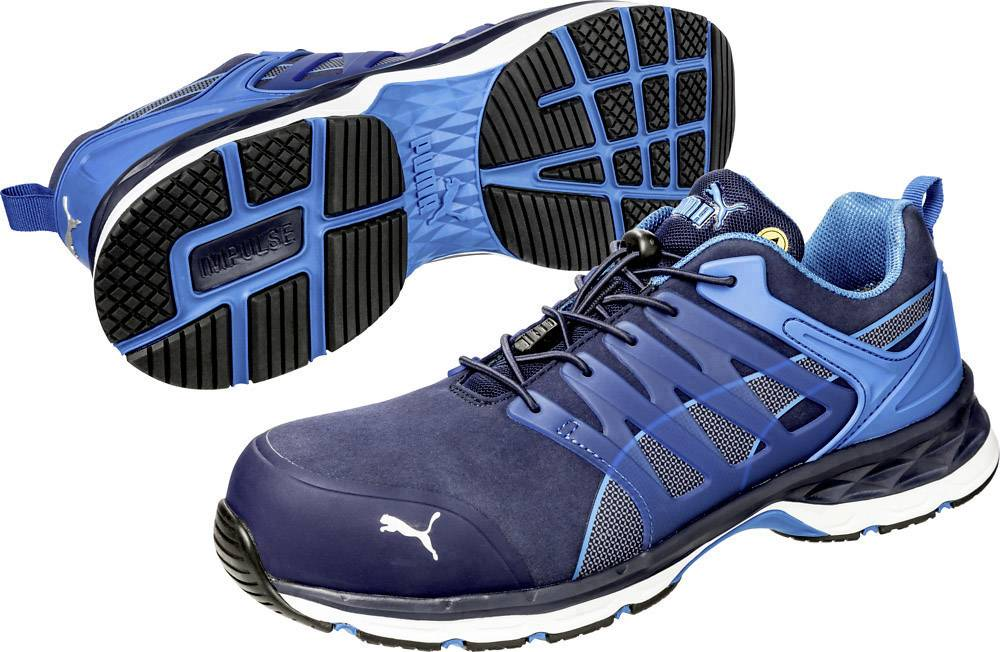 PUMA Safety VELOCITY 2.0 BLUE LOW 643850-45 ESD protective footwear S1P Size: 45 Blue 1 Pair