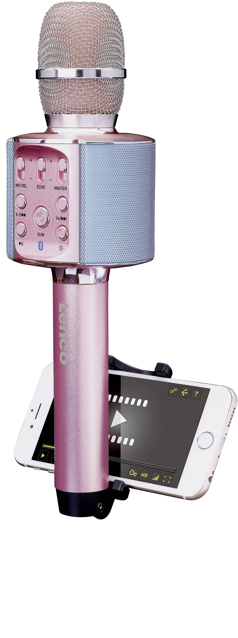Lenco BMC-090PI Bluetooth speaker Aux, incl. bracket Pink