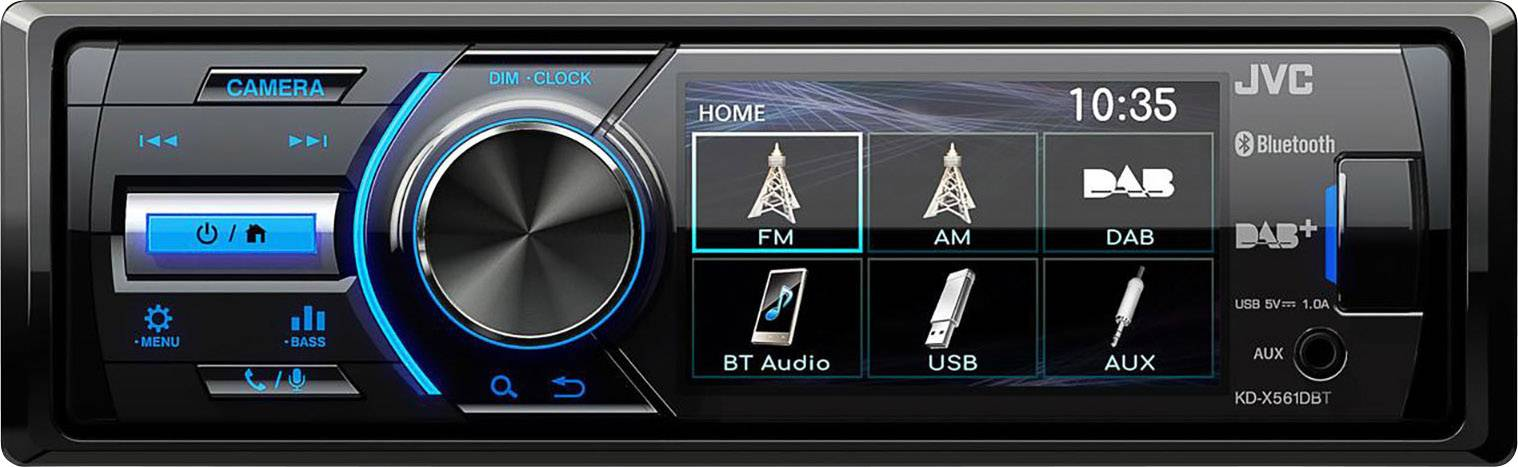 JVC KD-X561DBT Autoradio Digitalradio Bluetooth USB AUX MP3 FLAC DAB+