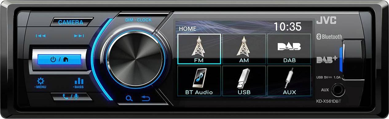 JVC kd-x561dbt mp3-autorradio con Bluetooth DAB USB iPod Aux-in