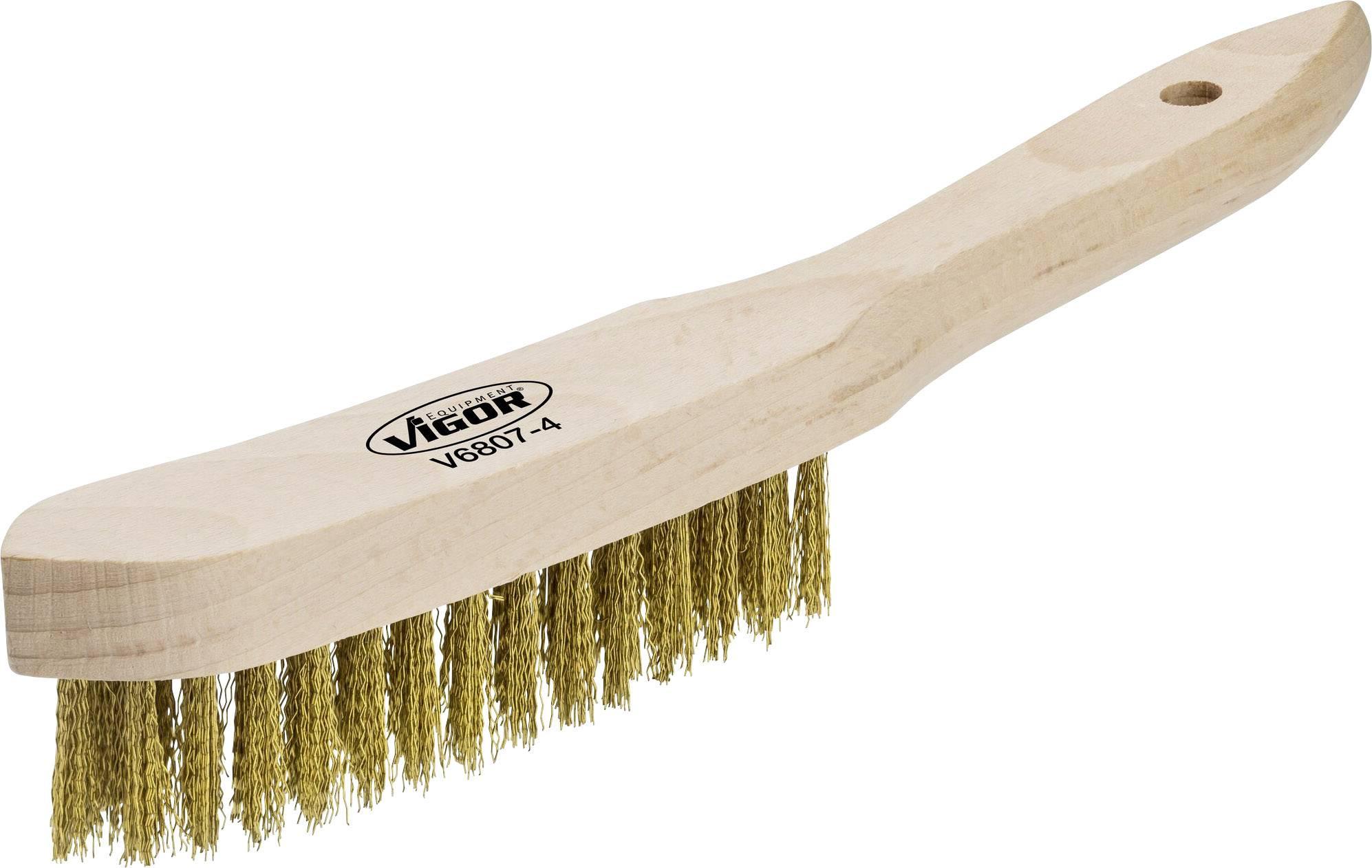 Wire brush 150 mm Vigor 1-piece 1 pc(s) | Conrad com