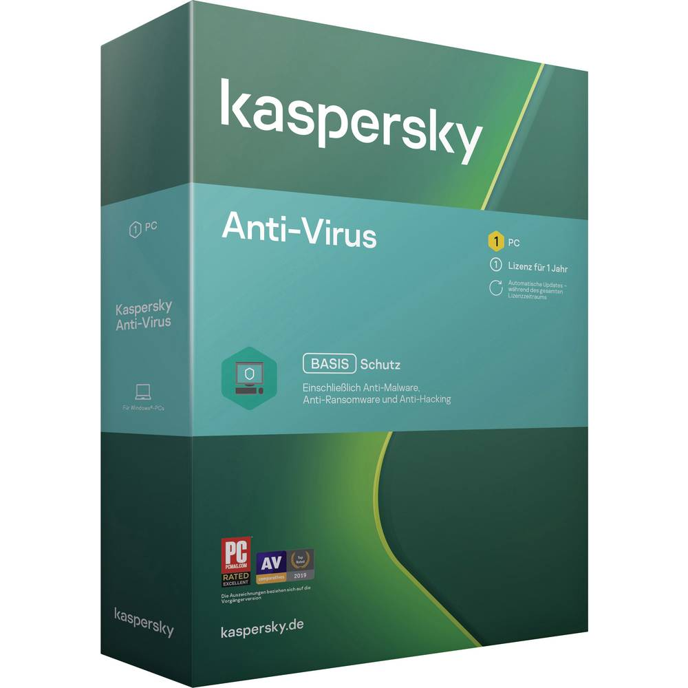 Kaspersky Lab Anti-Virus 2020 (Code in a Box) Full version, 1 license Windows Antivirus