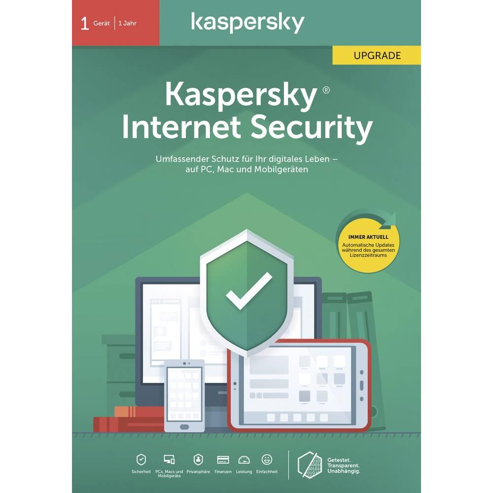 Aktualizacja Kaspersky Lab Internet Security 2020 (Code in a Box), 1 licencja Windows, Mac OS, Android Antivirus, Bezpieczeństwo