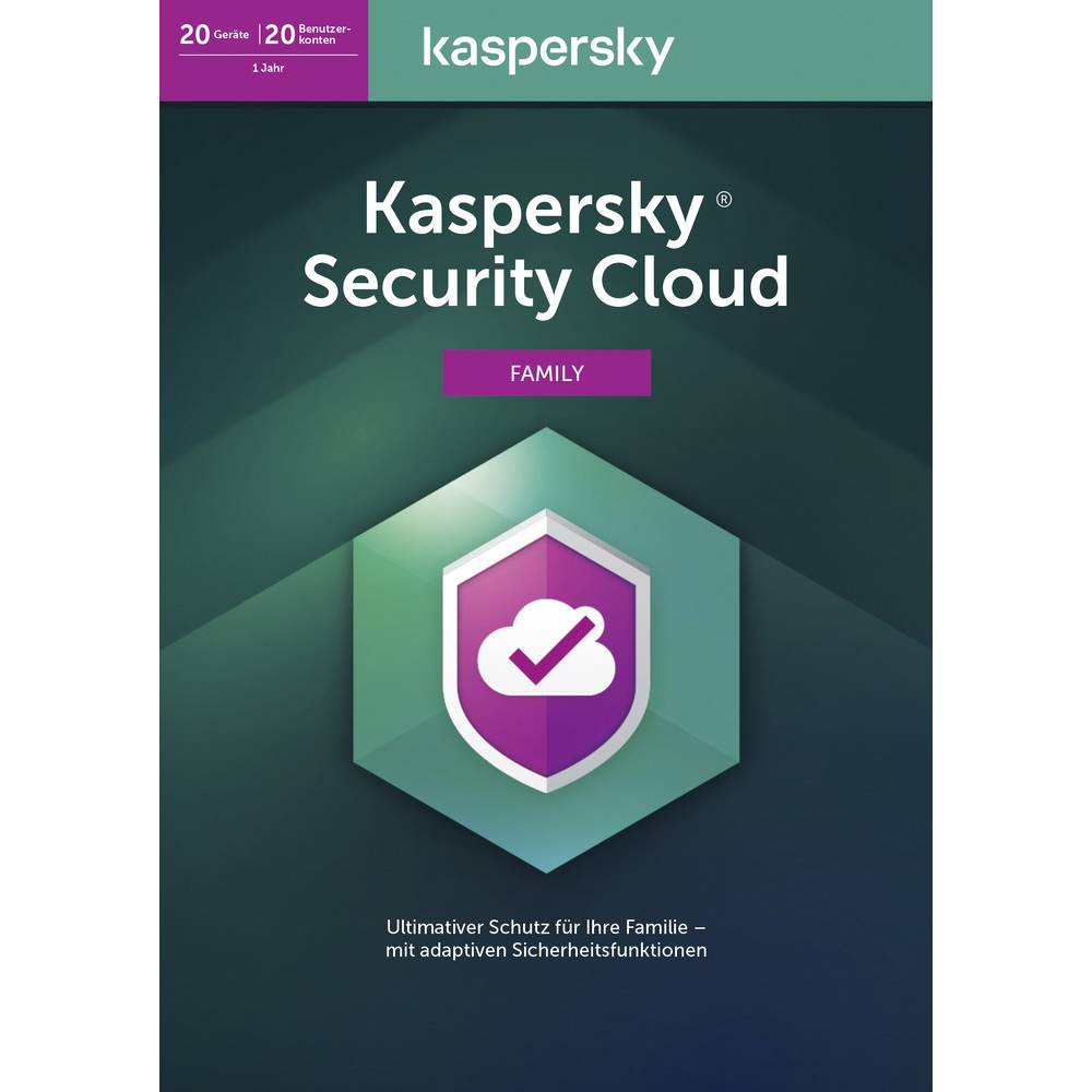 Kaspersky Lab Security Cloud Family Edition 2020 (Code in a Box) Full version, 20 licenses Windows, Mac OS, Android