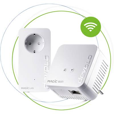 Image of Devolo Magic 1 Mini Starter Kit Powerline Wi-Fi starter kit 1,25 Gbps