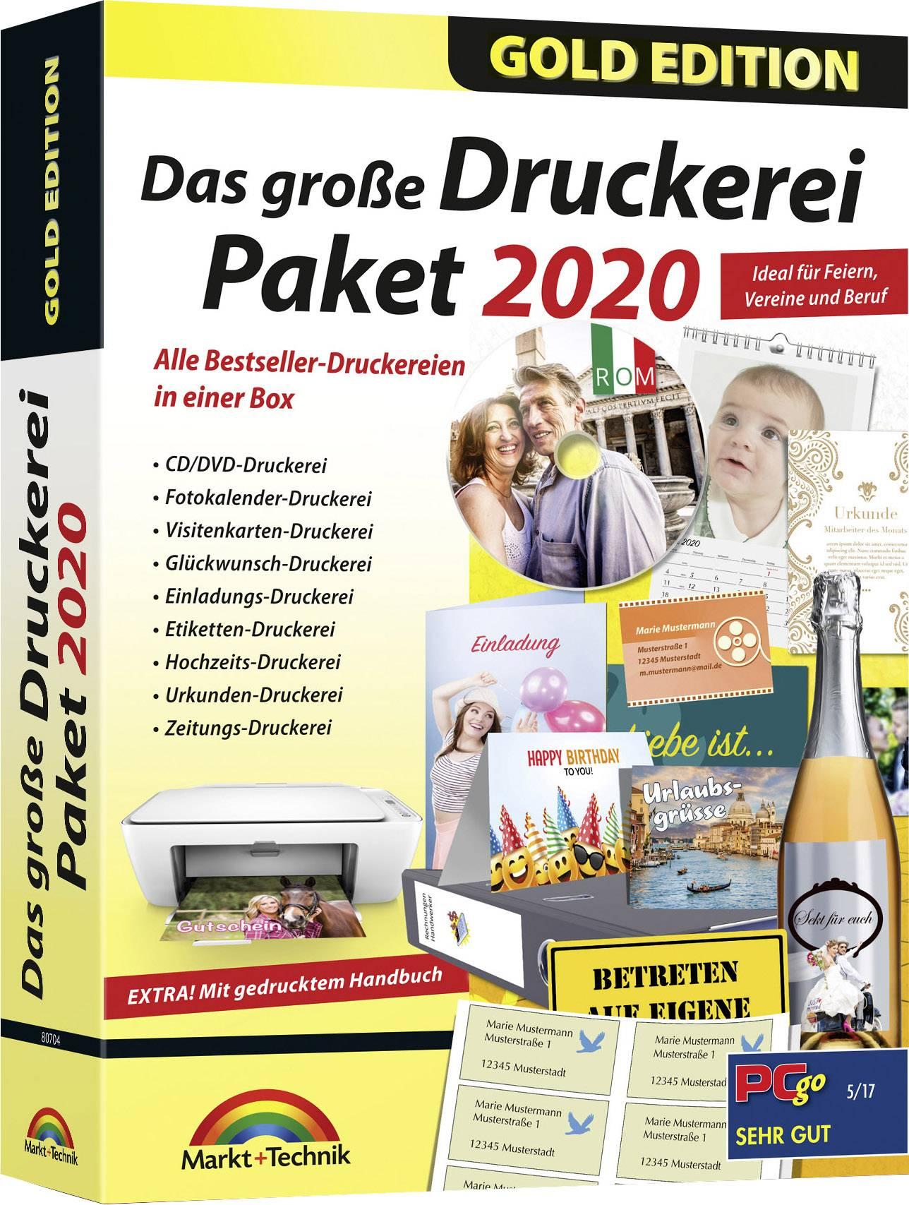 Markt Technik Das Große Druckerei Paket 2020 Gold Edition