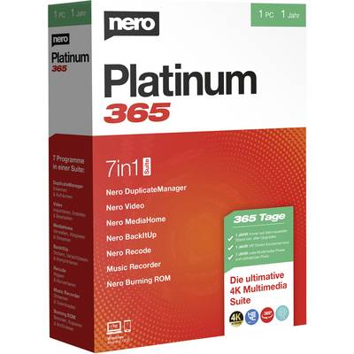 Image of Nero Platinum 365 Full version, 1 licence Windows CD/DVD creator