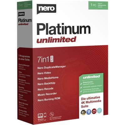 Image of Nero Platinum Unlimited Full version, 1 licence Windows CD/DVD creator