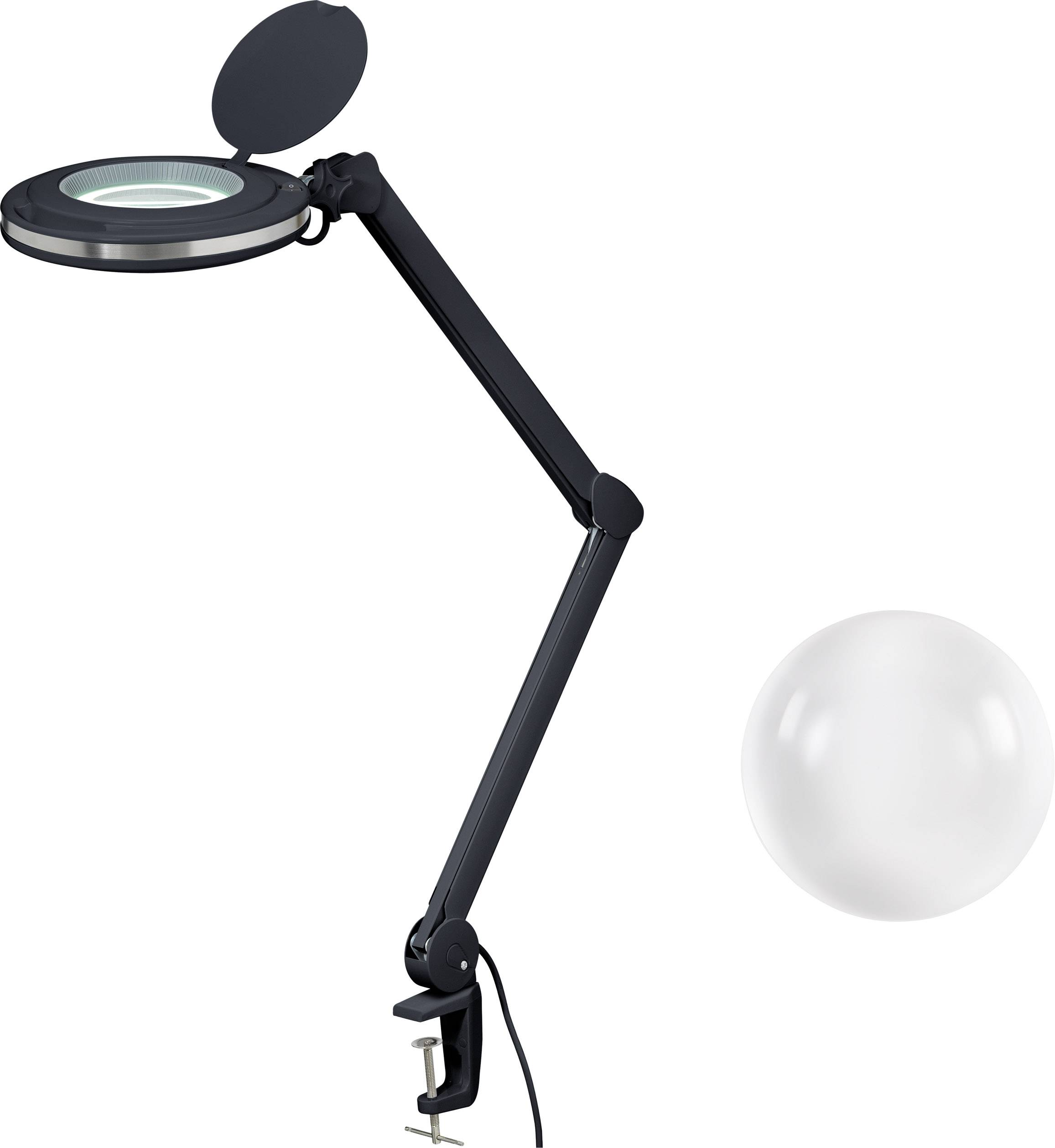 Toolcraft 2178491 Led Magnifying Lamp Black 5 127 Mm With Clamp Holder 5d 2 25x Conrad Com