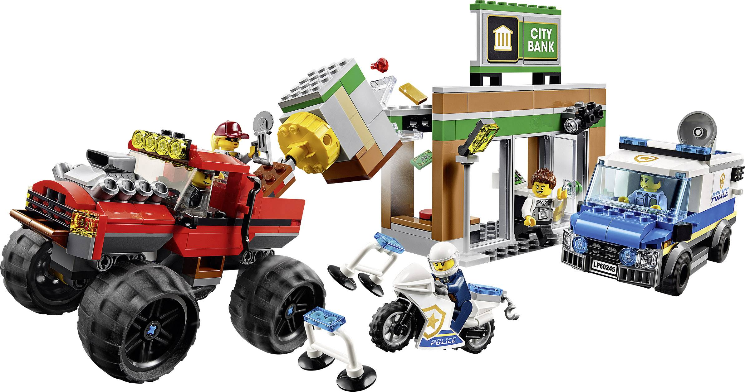 60245 Lego City Robbery With The Monster Truck Conrad Com