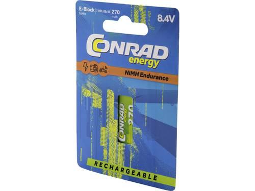 Oplaadbare 9V batterij (blok) Conrad energy Endurance 6LR61 NiMH 8.4 V 270 mAh 1 stuk(s)