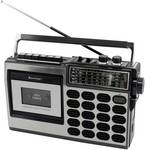 Retro radio cassette recorder with USB/SD recording