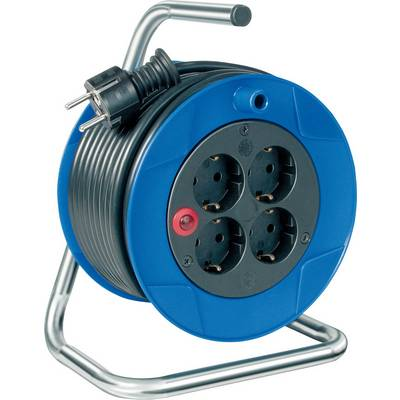 Image of Brennenstuhl 1079180004 Cable reel 15.00 m Black PG plug
