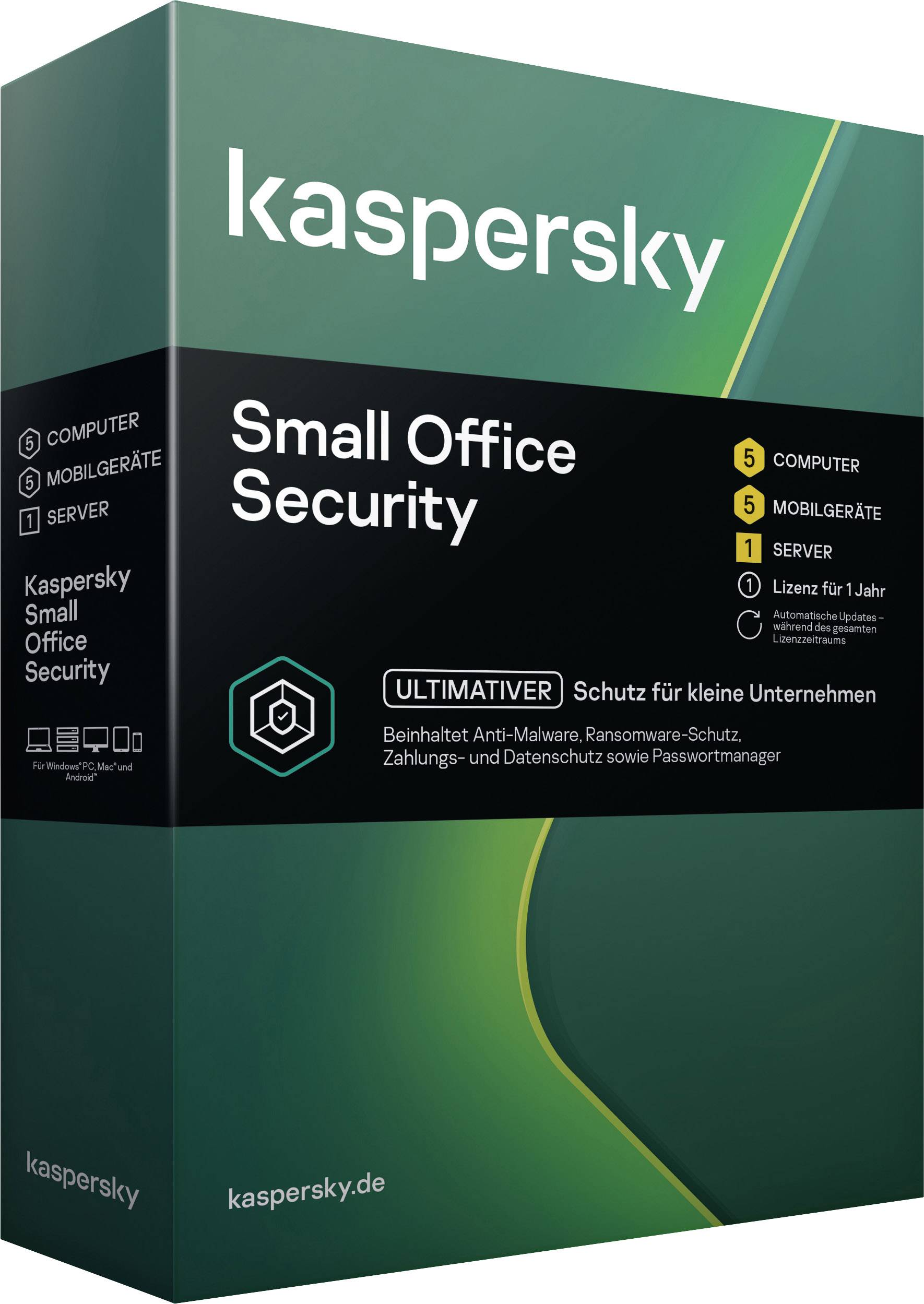 Kaspersky Lab Small Office Security 7 0 Full Version 6 Licenses Windows Mac Os Android Antivirus Security Conrad Com