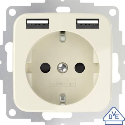 2USB 2U-449399 Flush-mount socket incl. USB Cream-white