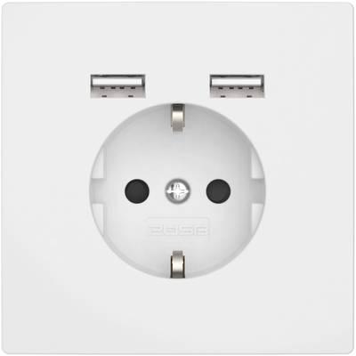 Image of 2USB 2U-449061 Flush-mount socket incl. USB Pure white (glossy)