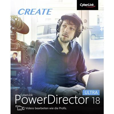 Image of Cyberlink PowerDirector 18 Ultra Full version, 1 licence Windows Video editor