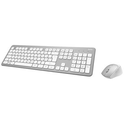 Image of Hama KMW700 Radio Keyboard and mouse set German, QWERTZ, Windows® Silver, White