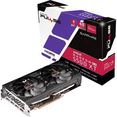 Image of Sapphire GPU AMD Radeon RX 5500 XT Pulse 4 GB GDDR6 RAM PCIe x16 HDMI™, DisplayPort