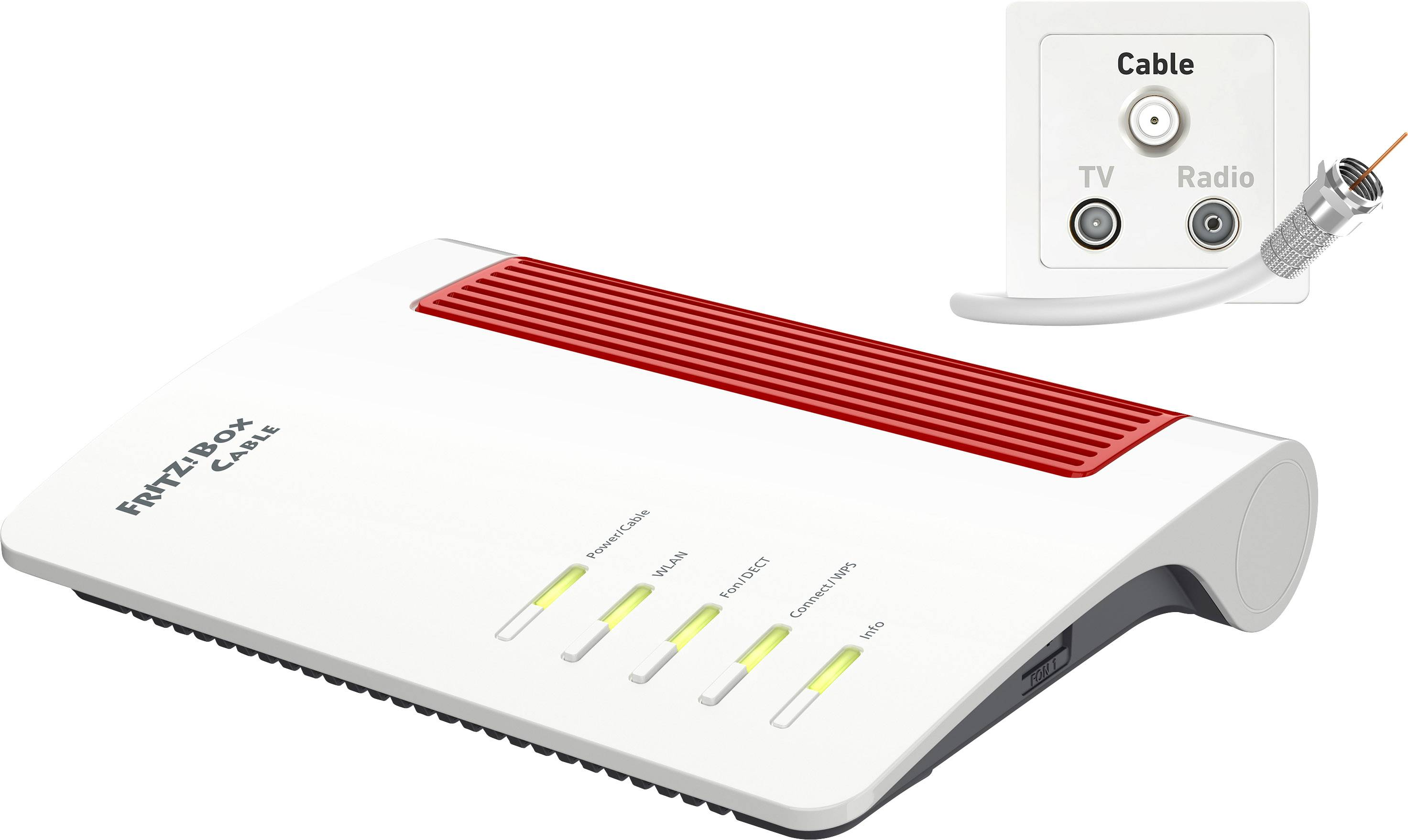 AVM FRITZBox 2000 Cable Wi Fi modem router Built in modem Kabel 200.200 GHz,  200 GHz 200.200 Gbps