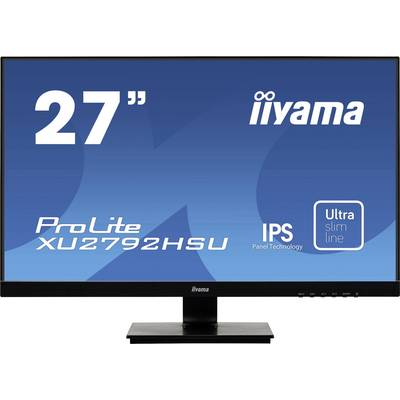 Image of Iiyama Prolite XU2792HSU-B1 LED 68.6 cm (27 inch) 1920 x 1080 p Full HD 4 ms HDMI™, VGA, DisplayPort, USB 3.2 Gen 1 (USB 3.0), Headphone jack (3.5 mm) IPS LED