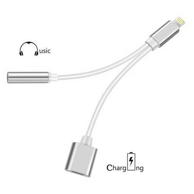 Image of Felixx Premium Combo cable/Audio cable/Charger lead [1x Apple Dock lightning plug - 1x Apple dock lightning socket, Jack socket 3.5 mm]