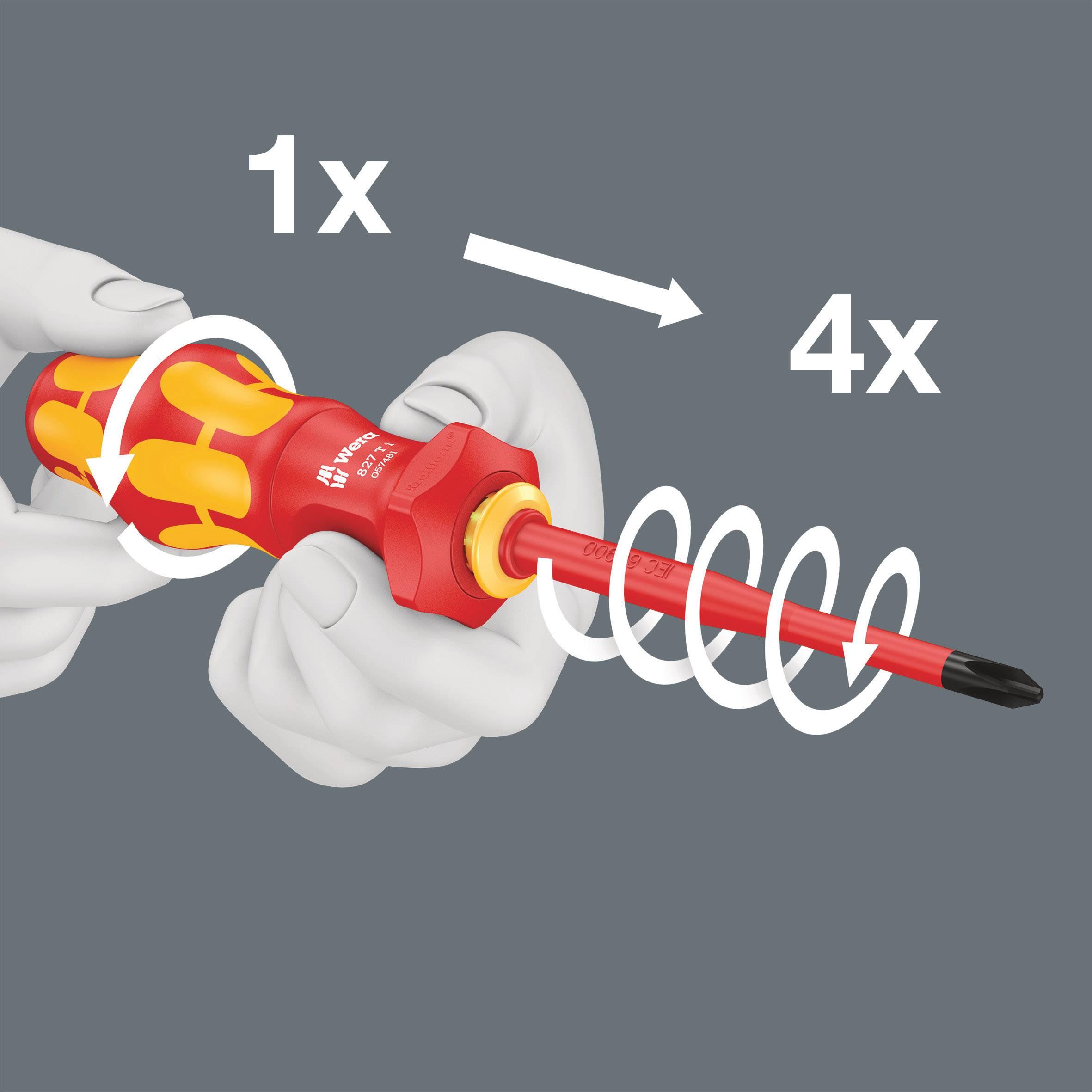 """WERA Bit DIN 3126 E 6,3 Antrieb 1//4/"""" zähhart Nr 5,5 x 1,0 x 89 mm 800//4 Z"""