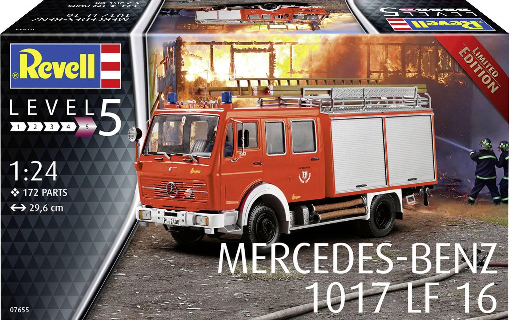 Revell 07655 MB 1017 Löschgruppenfahrzeug LF16 Feuerwehr Modellbausatz 1:24 NEU