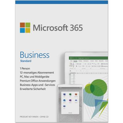 Image of Microsoft 365 Business Standard Full version, 5 licences Windows, Mac OS, Android, iOS Office package