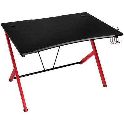 Image of Nitro Concepts D12 Gaming Desk - Black/Red