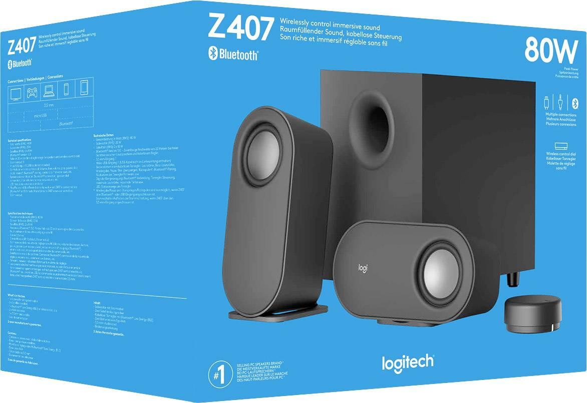 Logitech Z407 2.1 PC speaker Wireless, Corded 40 W Black ...