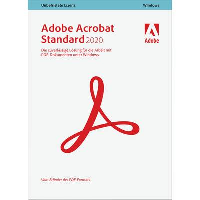 Image of Adobe Acrobat Standard 2020 Full version, 1 licence Windows PDF