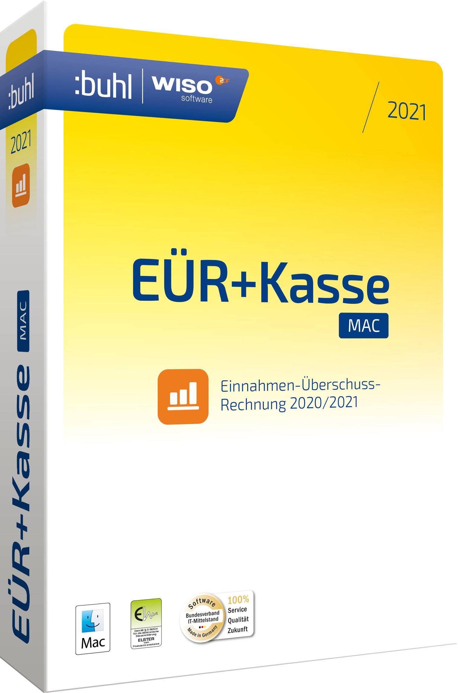 WISO eür+kasse:mac 2021 1-year, 1 licence Mac OS Finance ...