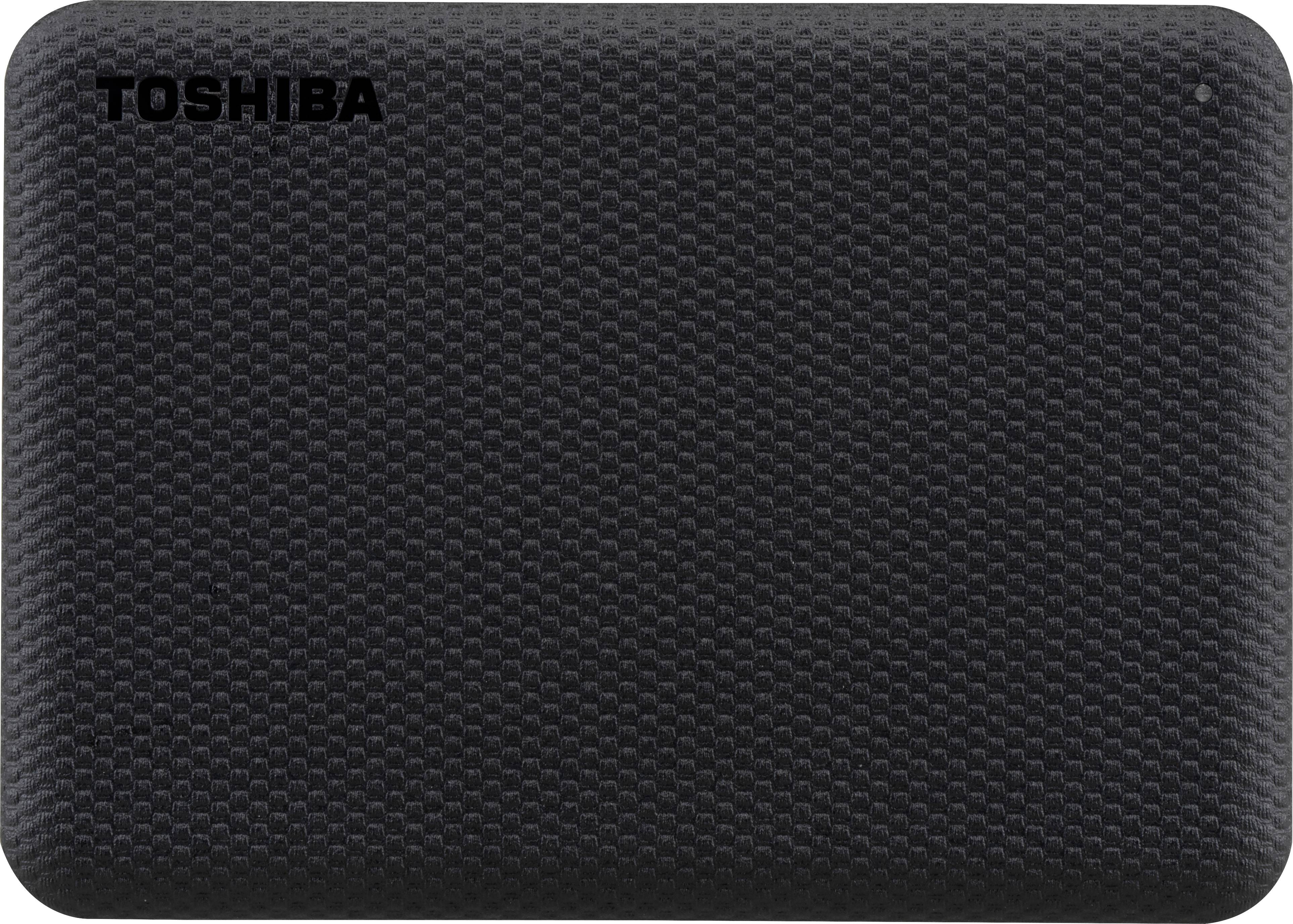 توشيبا - هارد ديسك خارجي محمول كانيفو ادفانس 4 تيرابايت يو اس بي 3.2 الجيل 1 مع النسخ الاحتياطي التلقائي، اسود -HDTCA40EK3CA
