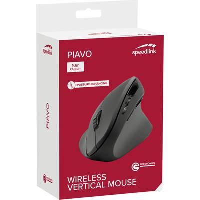 Image of Speedlink - Piavo Ergonomic 1600pdi Optical Vertical Wireless Mouse (Black)