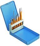 Tool set in 6-part metal folding box
