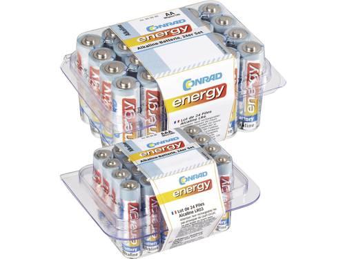 Conrad energy Batterijset AA, AAA 48 stuks Incl. box